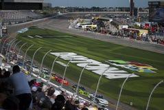 Car racing and fans close up stock photography