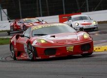 Car Racing(Ferrari F430,FIA GT). Ferrari F430,FIA GT Round.8=FINAL: in BELGIUM,Circuit Zolder; October 25. 2009. GT2 Class No.77 Matteo MALUCELLI(ITA)/Paolo Royalty Free Stock Photography