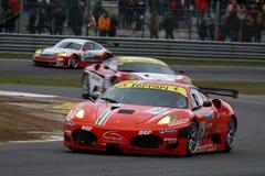 Car Racing(Ferrari F430,FIA GT). Ferrari F430,FIA GT Round.8=FINAL: in BELGIUM,Circuit Zolder;October 25. 2009. GT2 Class No.50 Toni VILANDER(FIN)/Gianmaria Royalty Free Stock Images