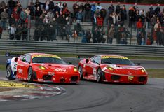 Car Racing(Ferrari F430,FIA GT). Ferrari F430,FIA GT Round.8=FINAL: in BELGIUM,Circuit Zolder,October 25. 2009. GT2 Class No.77 Matteo MALUCELLI(ITA)/Paolo Royalty Free Stock Images