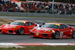 Car Racing(Ferrari F430,FIA GT) Stock Images