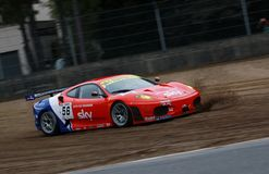 Car Racing(Ferrari F430,FIA GT). Ferrari F430,FIA GT Round.8=FINAL: in BELGIUM,Circuit Zolder;October 24. 2009. GT2 Class No.56 Andrew KIRKALDY(GB)/Rob BELL(GB Royalty Free Stock Photos