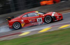 Car Racing(Ferrari F430,FIA GT) Stock Photo