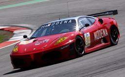 Car Racing(Ferrari F430 GT,Le Mans Series) Royalty Free Stock Images