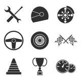 Car racing flat icons set Stock Photo
