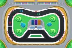 Car Racing Game Viewed from Above Stock Images