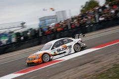 Car Racing(Gary Paffett,DTMrace). Gary Paffett(GBR), DTM: in FRANCE, Dijon-Prenois Circuit. October 11. 2009. Winner=Salzgitter AMG Mercedes C-Klasse 09 Stock Photography