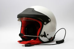 Car racing helmet. Peltor equipped sparco rally racing helmet Royalty Free Stock Image