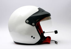 Car racing helmet. Peltor equipped sparco rally racing helmet Stock Photography