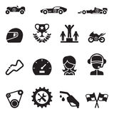Car Racing icon set Stock Photography