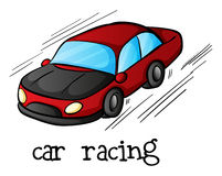 A car racing Royalty Free Stock Image