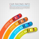 Car racing info art cover Stock Image
