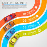 Car racing info art cover Royalty Free Stock Images