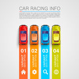 Car racing info art cover Stock Photo