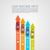 Car racing info art cover Stock Photography
