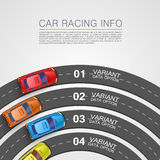 Car racing info art cover Stock Images