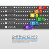 Car racing info art cover Stock Image