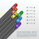 Car racing info art cover Royalty Free Stock Photo