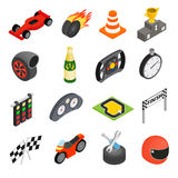 Car racing isometric 3d icons Royalty Free Stock Image