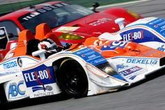 Car Racing(Lola B07/46-Mazda,Le Mans Series). Lola B07/46-Mazda, Le Mans Series race(LMS 1000km race): in SPAIN, Circuit Catalunya, April 05. 2009, LMP2 Class Stock Images