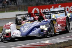 Car Racing(Oreca 01-AIM,Le Mans series) Stock Photo