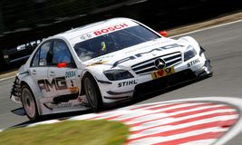 Car Racing(Paul DI RESTA,DTMrace). Paul DI RESTA(GB),DTMrace: in ENGLAND, BRANDS HATCH Circuit,September 05. 2009 Royalty Free Stock Image
