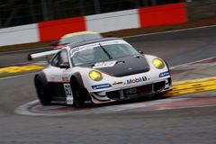 Car Racing(Porsche 911 GT3 RS,FIA GT) Stock Image