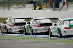 Car Racing,Porsche 911GT3 Cup Stock Photography
