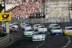 Car Racing,PORSCHE CARRERA CUP. 2008 START:in GERMANY,Cuicuit Norisring, June 29. 2008 Stock Images