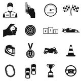 Car racing simple icons Stock Image