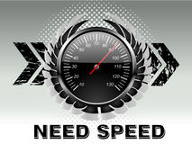 Car racing speed counter Royalty Free Stock Photography