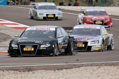 Car Racing(Timo Scheider,DTMrace) Stock Photography
