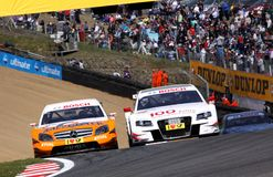 Car Racing(Tom KRISTENSEN,DTMrace) Royalty Free Stock Photography