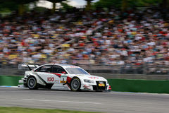 Car Racing(Tom KRISTENSEN,DTMrace,Audi A4 DTM 09) Royalty Free Stock Image
