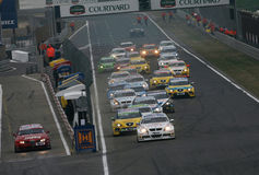 Car Racing,WTCC,BMW 320si(Andy PRIAULX) Royalty Free Stock Image