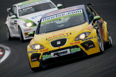 Car Racing,WTCC,SEAT Leon(Gabriele TARQUINI) Royalty Free Stock Image