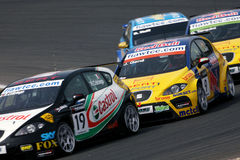 Car Racing,WTCC,SEAT Leon(Jordi GENE) Royalty Free Stock Photography