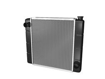 Car radiator. With metal core and plastic endcaps isolated on white Royalty Free Stock Photos