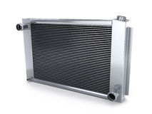Car radiator. (done in 3d, on white background Royalty Free Stock Images