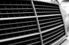Car radiator grid. Closeup of the car radiator grid Stock Image