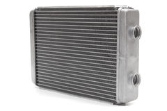 Car radiator. Heater isolated on white background. car parts stock photo