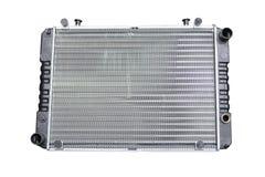 Car radiator isolated over white. Background royalty free stock image