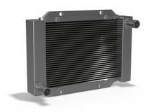 Car radiator. New car radiator on white background stock image