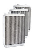 Car radiators. Various automobile radiators for engine cooling systems for air conditioning, for heating the passenger compartment, for cooling the oil in an Royalty Free Stock Photo