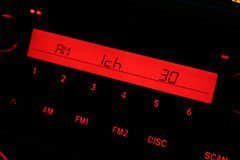 Car radio. Panel close up royalty free stock images