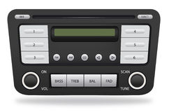 Car radio. Factory car radio vector drawings Royalty Free Stock Image