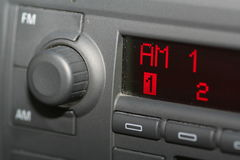 Car Radio. On AM stock photo