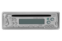 Car Radio. This image shows a front view from a car radio with disc player royalty free stock image