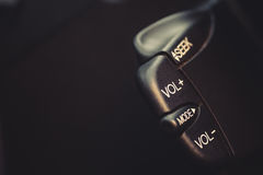 Car radio buttons Stock Photo
