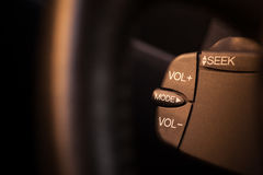 Car radio buttons Royalty Free Stock Image